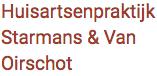Logo Huisartsenpraktijk Starmans en van Oirschot